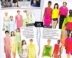 vogue UK spring summer trends 2013... id go with pastelsss :)