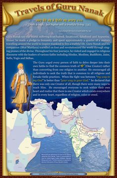 Guru Nanak, founder of the Sikh religion. Words filled with wisdom and love.