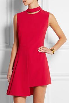 Versace|Asymmetric stretch-crepe mini dress|NET-A-PORTER.COM