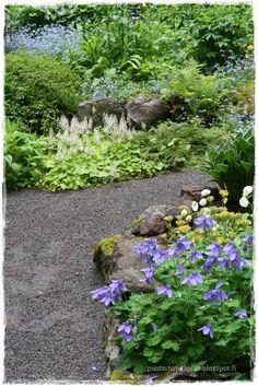 Mökkipuutarhassa Shade Garden, Ideas Para, Stepping Stones, Gardening, Outdoor Decor, Plants, Vintage, Gardens, Lawn And Garden