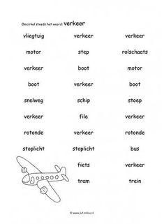 Werkblad verkeer - Woordherkenning 1