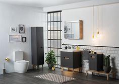 9 Sensational Small Bathroom Ideas on a Budget - Interior Design Labs - Bathroom Design, Bad Inspiration, Bathroom Inspiration, Modern Bathroom Design, Bathroom Interior Design, Bathroom Designs, Vitra Bathrooms, Small Bathroom Ideas On A Budget, Bad Styling, Bathroom Collections