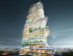 Endless Skyscraper Proposes a Vertical City in a Single Structure...
