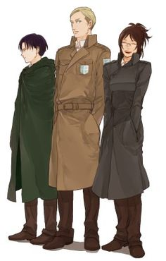 fav shingeki no kyojin reika Eren Yeager rivaille erwin smith snk cosplay levi heichou behindinfinity omfg my two favorite cosplayers in one picture Armin, Mikasa, Hanji And Levi, Levi And Erwin, Attack On Titan Fanart, Attack On Titan Levi, Snk Cosplay, Titans Anime, Levihan