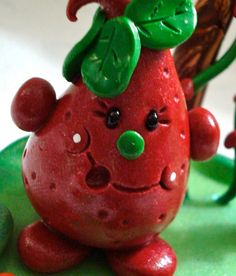 STRAWBERRY PARKER©  Polymer Clay Character  Limited by KatersAcres®