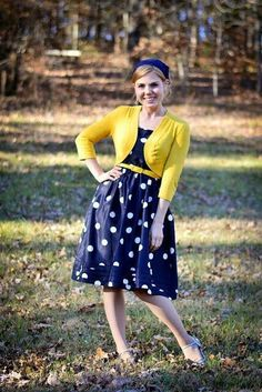 Pretty // modest dress // dots // blue // azul // vestido // SUD
