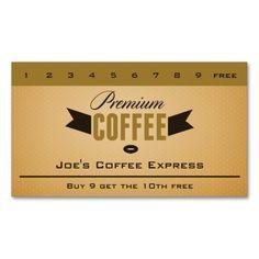 Espresso Bar Coffee Punch Card Punchloyalty Cardsbar
