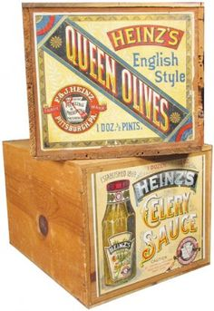 Two Heinz's Wood Shipping Crates : Lot 217