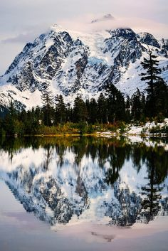 Snowy Mt Shuksan, Washington State, USA
