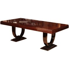 Superb Art Deco Dining Table | From a unique collection of antique and modern dining room tables at http://www.1stdibs.com/furniture/tables/dining-room-tables/