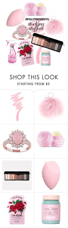 """#PolyPresents: Stocking Stuffers"" by andreamb118 ❤ liked on Polyvore featuring Victoria's Secret, CITYSHOP, Eos, TONYMOLY, Lime Crime, Moschino, contestentry and polyPresents"