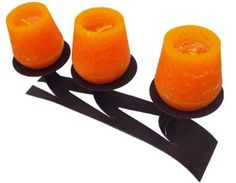 Bougie parfumée fleur oranger cocon couleur orange 95 mm