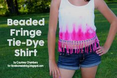 iLoveToCreate Blog: Beaded Fringe Tie-Dye Shirt