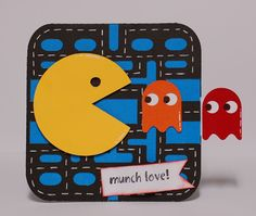 Paper Creations by Kristin: Pac Man Slider Card