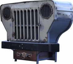 Old Vintage Jeep Repurposed Into Cabinet • Recyclart