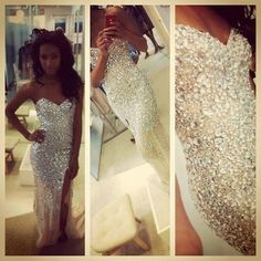 Haute couture dress  with crystals
