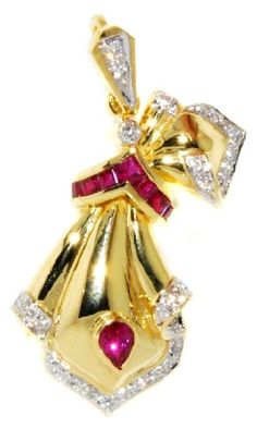 Natural Diamond Ruby Brooch/Pendant Gemstone 18K Yellow Gold [I_015] BKGjewelry http://www.amazon.com/dp/B00CJUVYU4/ref=cm_sw_r_pi_dp_RiJtwb0HFS50Y