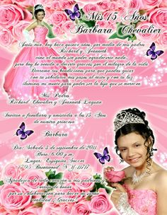 Invitación para 15 años Rosas y Mariposas #invitation #invitaciones #sweet15 #quinceanera