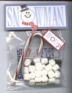Snowman Soup - Such a cute gift idea for Teachers