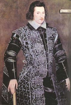 Robert Devereux, (1565-1601), 2nd Earl of Essex, son of Lettice Knollys, great-grandson of Mary Boleyn. Step son to Robert Dudley. He was a military hero and royal favourite of Elizabeth I, but following a poor campaign against Irish rebels during the Nine Years' War in 1599, he failed in a coup d'état against the  queen and was executed for treason.