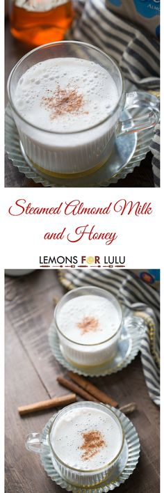 Nothing is quite as comforting as a mug of warm milk. This simple recipe is made with cinnamon infused almond milk that is poured over honey! This beverage is sweet calming and delicious! lemonsforlulu: