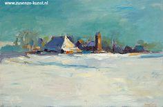Dinie Boogaart - Zus Enzo Giclees David Hockney, Dutch Painters, Bergen, Abstract Landscape, Art Nouveau, Bb, Landscapes, Paintings, Fauvism