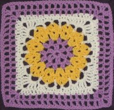 Inspiration :: Honeycomb 12-inch square designed by Chris Simon : *This pattern is not free.  However, there are a number of free patterns on her site.  #crochet #motif