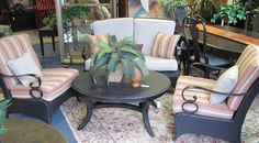 Outdoor Set, Love Seat & 2-Arm Chairs $395.00. - Consign It! Consignment Furniture