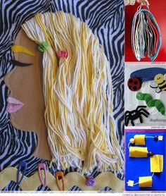 Hair styling quiet book page. Cute idea for a girls quiet book. Sewing Basics, Sewing Hacks, Sewing Projects, Sewing Tips, Diy Projects, Diy Quiet Books, Felt Quiet Books, Sewing Classes For Beginners, Diy Pour Enfants