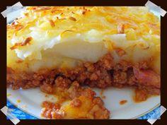 pastel de carne picada y pure de patata