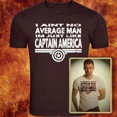 Captain America Inspired Movie Tshirt  Im No Average Man #CaptainAmerica #Avengers #kbd #cool #tshirts