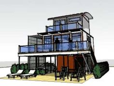 Architecture: Shipping Container House.