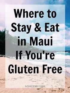 This post is all about my recent family vacation to Maui, Hawaii! I'm sharing all the details on where we stayed and what we ate. As you know, traveling with celiac disease can be challenging… but totally doable! Best Gluten Free Recipes, Real Food Recipes, Hawaii Travel, Maui Hawaii, Hawaii Vacation, Kauai, Maui Honeymoon, Hawaii Life, Vacation Packing