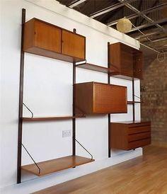Poul Cadovius Teak Royal Cado Shelving Storage Danish 60s 70s Mid Century   eBay