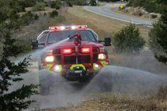 Brush truck https:/ Firefighter Emt, Wildland Firefighter, Volunteer Firefighter, Firefighter Equipment, Fire Dept, Fire Department, Cool Trucks, Big Trucks, Ambulance