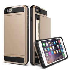 """2016 New Hybrid Tough Capa For Apple iphone 6 Case 4.7"""" Card Slider with Card Storage Armor Cover For iphone6 Mobile Phone Bags"""