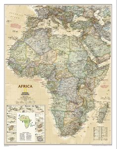 World Political Map Earthtoned Mounted Map Earth Wall Maps - National geographic political map