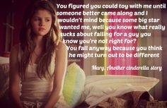 From the movie, Another cinderella story