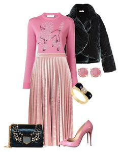 """""""Pink on Pink"""" by thymetorelax on Polyvore featuring Isa Arfen, Jimi Roos, Topshop, Christian Louboutin, Jimmy Choo, Melissa Joy Manning and Van Cleef & Arpels"""