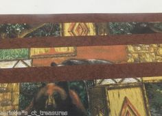 """WILDERNESS FAMILY Jelly Roll Cotton Fabric Quilting 20 2.5"""" Strips PATCHWORK"""