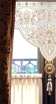 Shade & velvet curtains