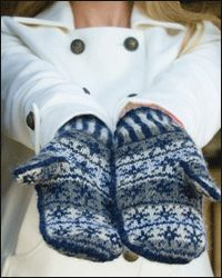 White Witch Mitts by Laura Rintala