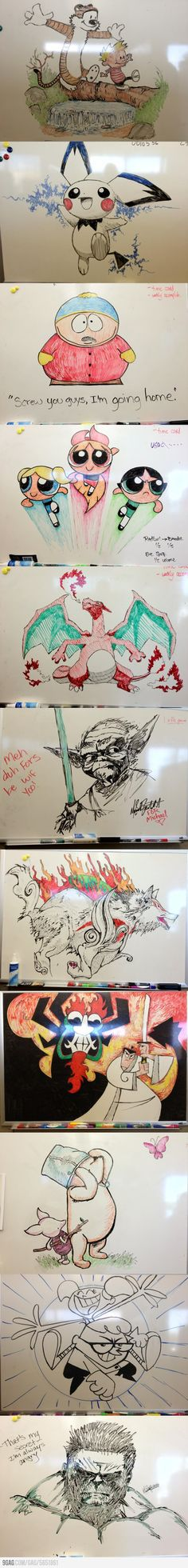 Awesome Whiteboard Drawing, fourth one up, i completely forgot about him.