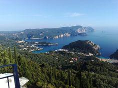 Paleokastritsa from Bella Vista, Lakones, Corfu