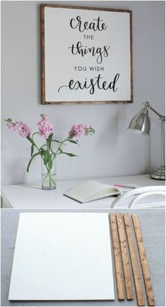 Wood signs are the hottest new decorating trend and one that I love dearly. Hobbies Is My Life fedlerisaac Pallet Ideas Wood signs are the hottest new decorating trend and one that I love dearly. Nothing says rustic farmhouse like a wood sign Wood Pallet Signs, Diy Wood Signs, Rustic Wood Signs, Wood Pallets, Stencils For Wood Signs, Home Decor Signs, Easy Home Decor, Craft Room Signs, Diy Pallet Projects