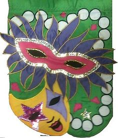 "#Mardi gras mask applique #garden flag fat tuesday mini yard #banner 13"" x 18"",  View more on the LINK: 	http://www.zeppy.io/product/gb/2/381811916982/"