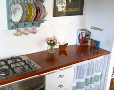 Adorable plate rack with vintage china