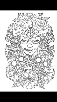 Print Sexy Sugarskull Coloring Pages Sugar Skull Coloring Pages