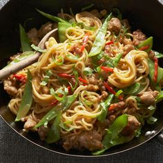 Updated Chicken Chow Mein   Marcia Kiesel's modern version of this Chinese-American dish includes stir-fried egg noodles with chicken sausage, chiles, basil and an unexpected ingredient—orange juice.
