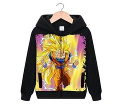 Dragon Ball Super Z - Super Saiyan 3 Goku - Zip-up Black Hoodie